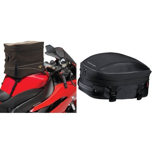 Nelson-Rigg CL-903 Black Expandable Tank/Tail Bag and  CL-1060-S Black Sport Tail/Seat Pack Bundle ()