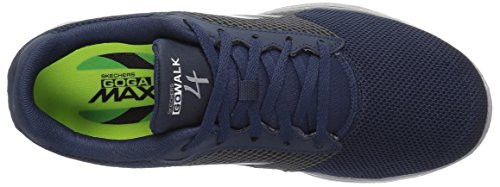 Skechers Performance Herren Go Walk 4 Lace-up Wanderschuhe Navy / Grey Knit