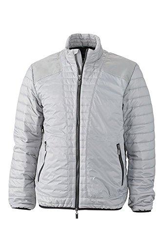 Jacket Alla Con Men's Lightweight Moda Giacca Silver Dettagli black Trapuntata nSUOc1W0
