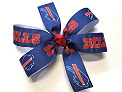 Girls Buffalo Bills Hair Bow Bills Footb...