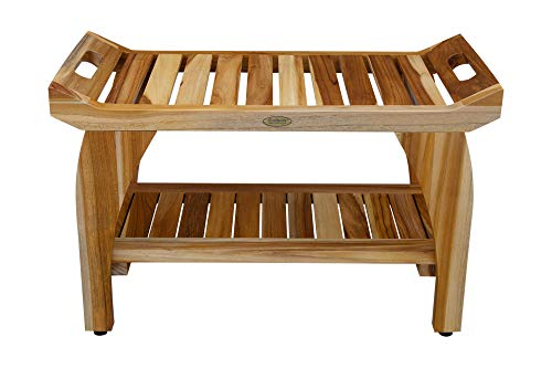 (EcoDecors Tranquility Shower Bench, Natural)
