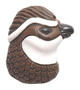 (Shipwreck Beads 24 by 14mm Peruvian Hand Crafted Ceramic Bobwhite Quail Head Beads, Brown, 3 per Pack)