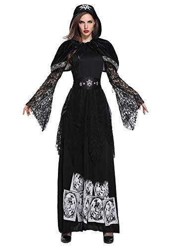 Honeystore Ghost Bride Demon Costume Vampire Fancy Dress Sexy Poison Ivy Costume 1874 -