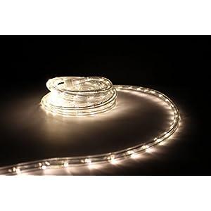 """10Ft Rope Lights; Soft White LED Rope Light Kit; 1.0""""LED Spacing; Christmas Lighting; outdoor rope lighting"""