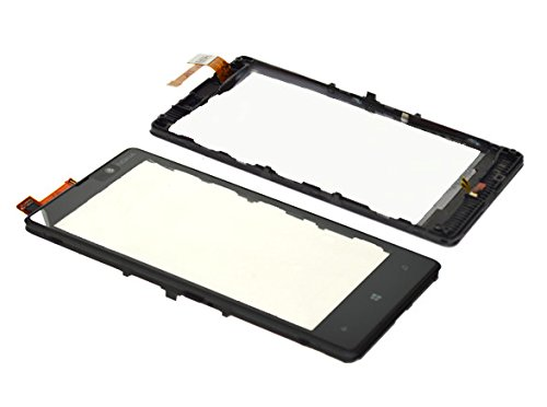 820 Glasses (Touch Screen Glass Digitizer Replacement Lens Part for Nokia Lumia 820 with free tools (Not include LCD) with Frame)