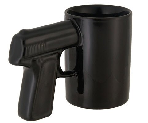 Cool Gun Design Cup (Black)
