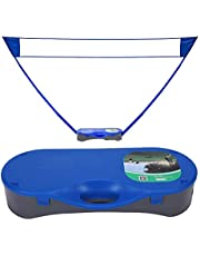 Red de tenis Bádminton neto del estante plegable portátil badminton ajustar la altura de tenis badminton red de voleibol del tenis del fútbol neto Por tenis exterior ( Color : Black , Size : Ones )