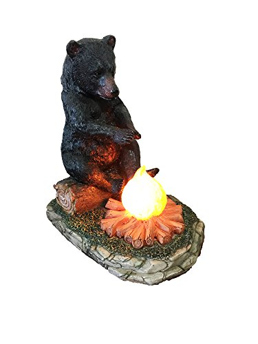 Large Black Bear By The Campfire Table Night Light - Rustic, Cabin, Lodge, Country Decor by DeLeon Collections (Image #5)