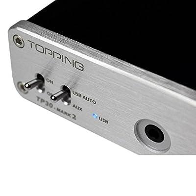 GranVela® TOPPING TP30 MARK2 Hi-Fi USB DAC Digital Power Stereo Subwoofer Headphone Amplifier 16bit/48kHz USB DAC Earphones Amp