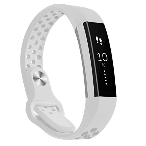 Hanlesi Band for Fitbit Alta HR , Fitbit Alta , Breathable Soft Silicone Adjustable Fashion Sport Strap for Fitbit Alta 2 Replacement Fitness Accessory Wristband with hole