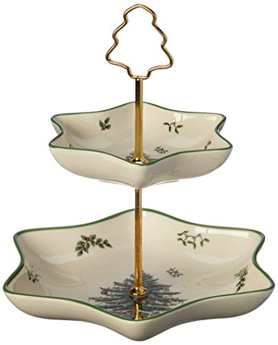 (Spode Christmas Tree 2 Tier Star)