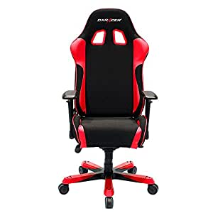 DXRacer King Series Big and Tall Chair DOH/KS11/NR Office Chair Gaming Chair Ergonomic Computer Chair eSports Desk Chair Executive Chair Furniture with Free Cushions (Black/Red)