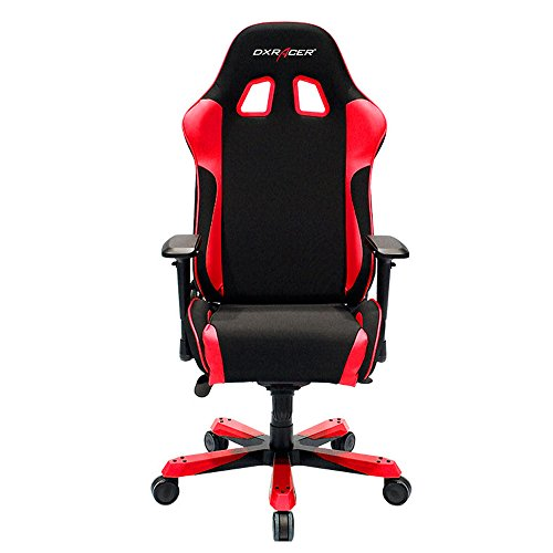 Cheap DXRacer King Series Big and Tall Chair DOH/KS11/NR Office Chair Gaming Chair Ergonomic Computer Chair eSports Desk Chair Executive Chair Furniture with Free Cushions (Black/Red)