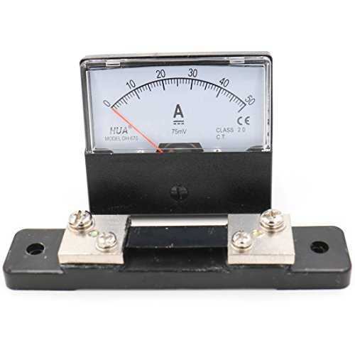 Baomain DH-670 DC 0-50A Analog Amp Panel Meter Current Ammeter with 75mV Shunt
