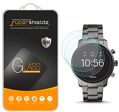 [3-Pack] Supershieldz for Fossil Q Explorist HR (Gen 4) Tempered Glass Screen Protector, Anti-Scratch, Bubble Free, Lifetime ()