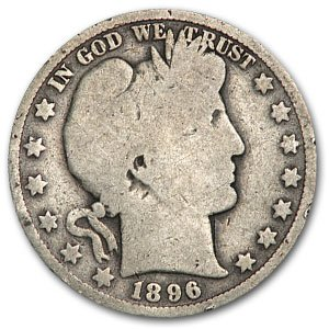 1896 O Barber Half Dollar AG Half Dollar About Good