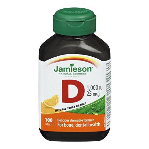 Jamieson Chewable Vitamin D 1,000 IU - Natural Tangy Orange