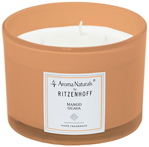 (Ritzenhoff Aroma Naturals Modern Glass Scented Candle, Orange, 11x 11x 8cm)
