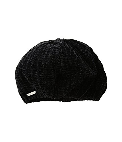 Calvin Klein Women's Chenille Open Knit Beret Accessory, Black, One Size