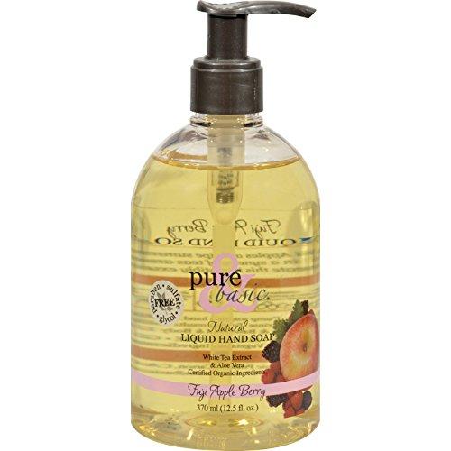 Pure and Basic Natural Liquid Hand Soap Fuji Apple Berry - 12.5 fl - Basic Fuji Berry Apple