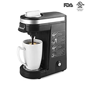 12 Cup Coffee Maker Is How Many Ounces : Amazon.com: CHULUX Single Serve Coffee Maker Brewer for K Cups with 12 OZ Water Tank(Black ...