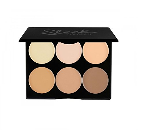 Sleek MakeUP - Contour and Highlighting Makeup Kit - Foundation/Concealer Palette Cruelty Free & Hypoallergenic for Light/Fair Skin Tones