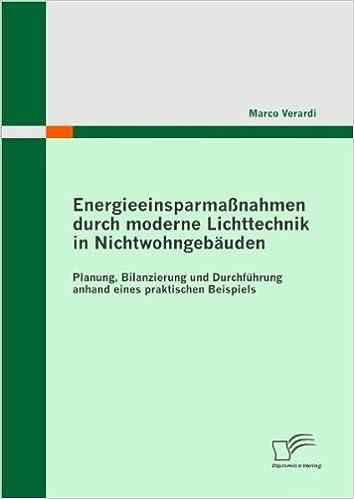 Book Energieeinsparmassnahmen Durch Moderne Lichttechnik in Nichtwohngebauden