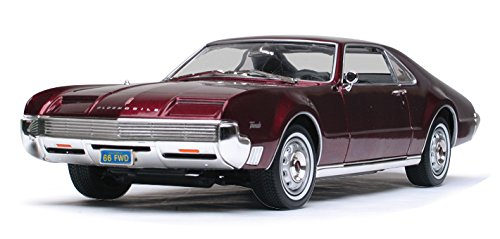 1966 Oldsmobile Toronado, Burgundy - Road Signature 92718 - 1/18 Scale Diecast Model Toy Car