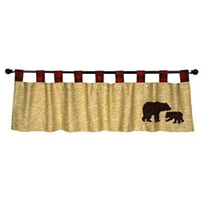 "Trend Lab Northwoods Window Valance, Red/Tan - Tab Top Window Valance Measures 56"" x 15"" Machine Wash - living-room-soft-furnishings, living-room, draperies-curtains-shades - 41g2GIV79mL. SS400  -"