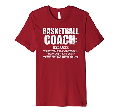 Mens Funny Basketball Coach Definition Gift T Shirt Large Cranberry