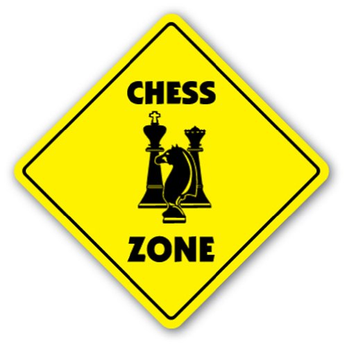 """Chess Crossing Sign Zone Xing 