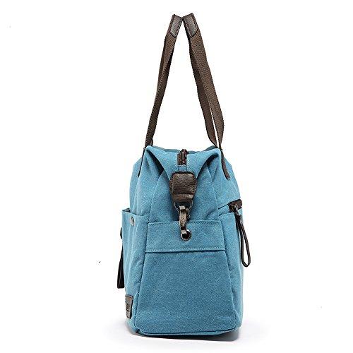 Bag Bag Purses DHH Messenger Hobo Canvas Handbag Blue Tote Unisex Shoulder Satchel 6qw4Ot