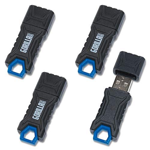 GorillaDrive 16GB Ruggedized USB Flash Drive (4-Pack)