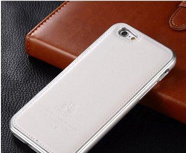 Fineday Iphone 6 Plus Case Aluminum Arc Frame With Genuine Leather