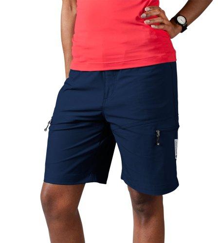 - AERO TECH DESIGNS Women's Multi-Sport Shorts, color Navy, size Medium