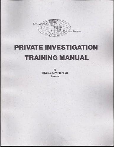 private investigator training manual