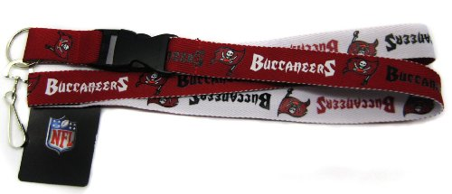 Pro Specialties Group NFL Tampa Bay Buccaneers Two-Tone Lanyard, Red/Pewter, One ()