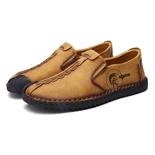 Low Car Cuir Loisirs top Hommes Confortable Pour Marron Jaune Chaussures Slip Walking a Enfiler En Noir Casual Oxfords Sneakers Driving On Juleya Mocassins Jaune pTYWZqwX0w