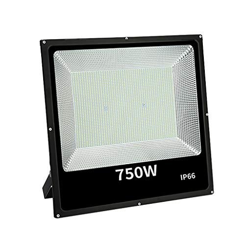 shedeng Proyector al aire libre con reflector a prueba de agua, de alta potencia, 750 vatios, iluminación súper brillante,...