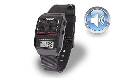 Reloj Pulsera con Voz para Ciegos / Baja Vision / Rectangular: Amazon.es: Hogar