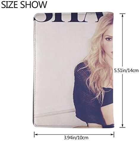 シンガー シャキーラ Singer Shakira パスポートケース メンズ レディース パスポートカバー パスポートバッグ 携帯便利 シンプル ポーチ 5.5インチ PUレザー スキミング防止 安全な海外旅行用 小型 軽便