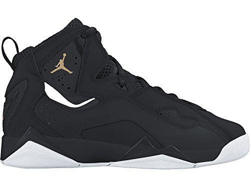 JORDAN KIDS JORDAN TRUE FLIGHT BG BLACK BLACK WHITE GOLD SIZE 6 by NIKE