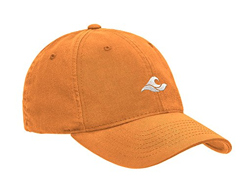 Koloa Surf Wave Logo Soft & Cozy Adjustable Baseball Cap-Orange/w -