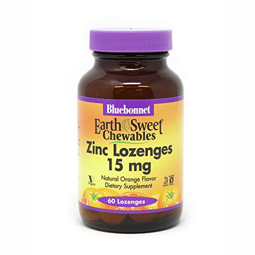 BlueBonnet Earthsweet Zinc Lozenges, Orange, 60 Count