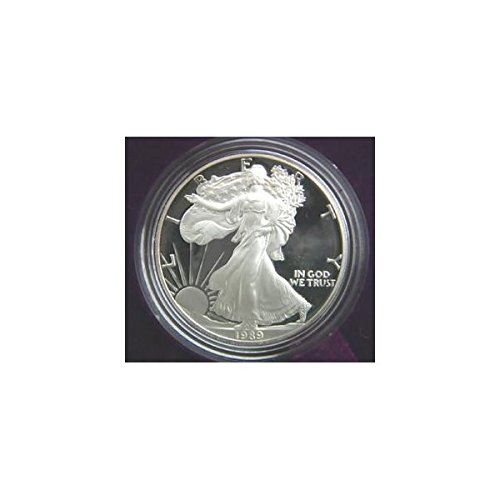 - 1989 Proof American Eagle Silver Dollar with Original Packaging