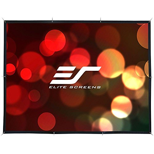 DIY 123 in. Diagonal Indoor/Outdoor Projection Screen with Rear Projection
