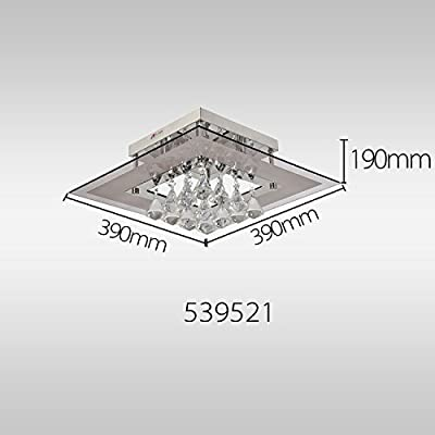OOFAY LIGHT® Modern crystal ceiling light, Simple and elegant crystal light, 5-head crystal ceiling light for living room, Bedroom crystal ceiling light
