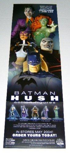 Dc Direct Batman Hush Action Figures Comics Shop Promo Banner Poster: Huntress/The Joker/Poison Ivy+