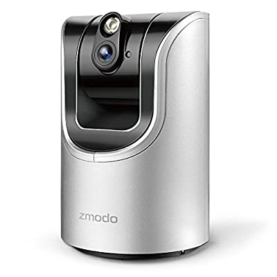 Zmodo 1.0 Megapixel 1280 x 720 Pan & Tilt Smart Wireless IP Network Security Camera Easy Remote Access Two-way Audio by Zmodo