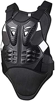 meetgre Motorbike Body Guard Vest Bike Body Guard Jackets Motocross Body Clothing Sports Chest Back Spine Chest Protector Vest Motorcycle Riding Armor Racing Protection Gear